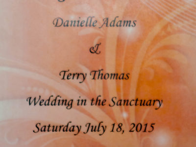 Terry and Danielle Thomas Wedding July 18th 2015